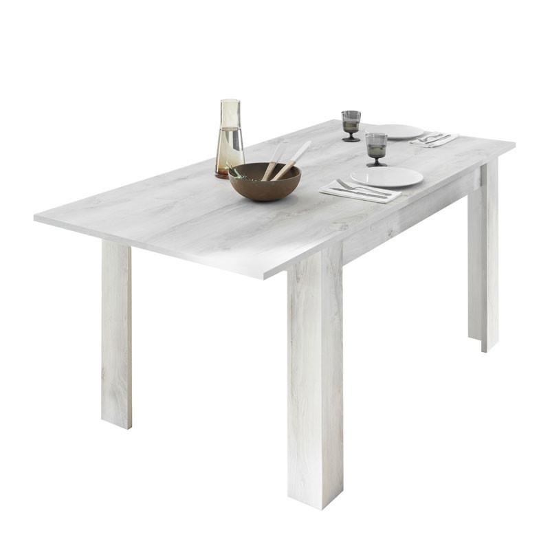 Table de repas à allonge Pin blanc - LUBIO