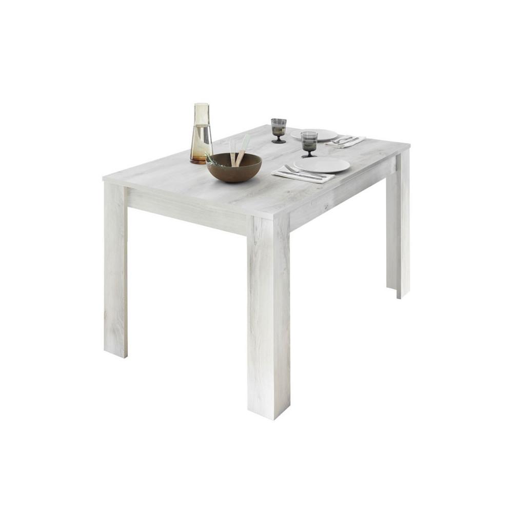 Table de repas rectangulaire Pin blanc - LUBIO