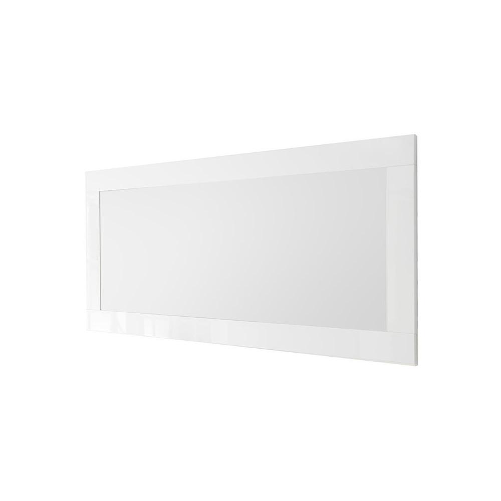 Miroir rectangulaire Blanc laqué brillant - LUBIO