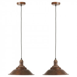 Duo de Suspensions Métal marron N°1- COPRIN