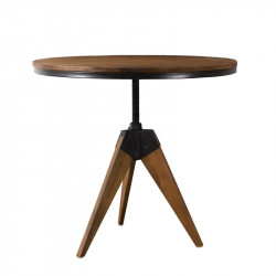 Table d'appoint ronde Teck/Métal - ASIO