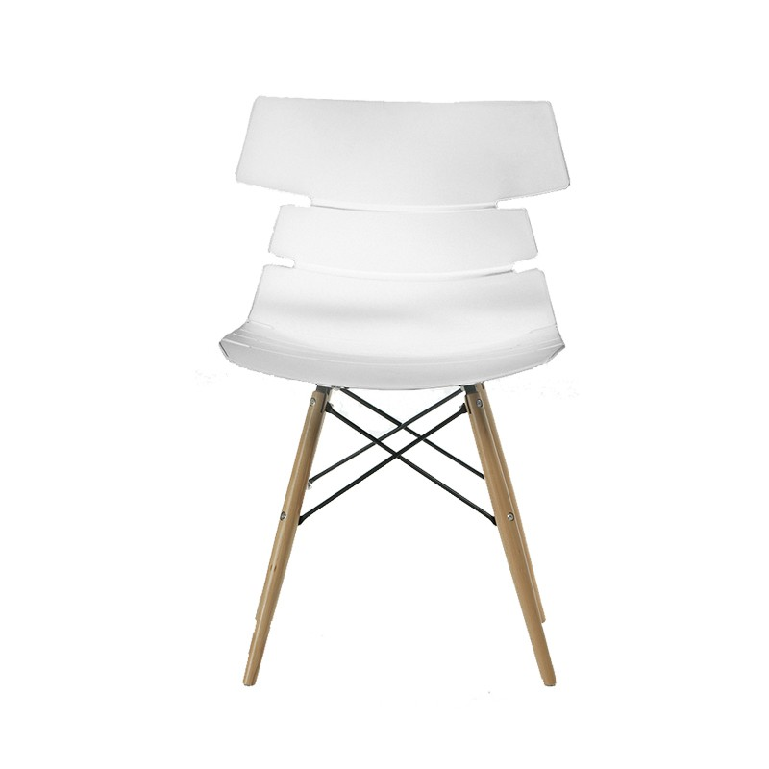 quatuor de chaises blanches siry univers salle manger. Black Bedroom Furniture Sets. Home Design Ideas