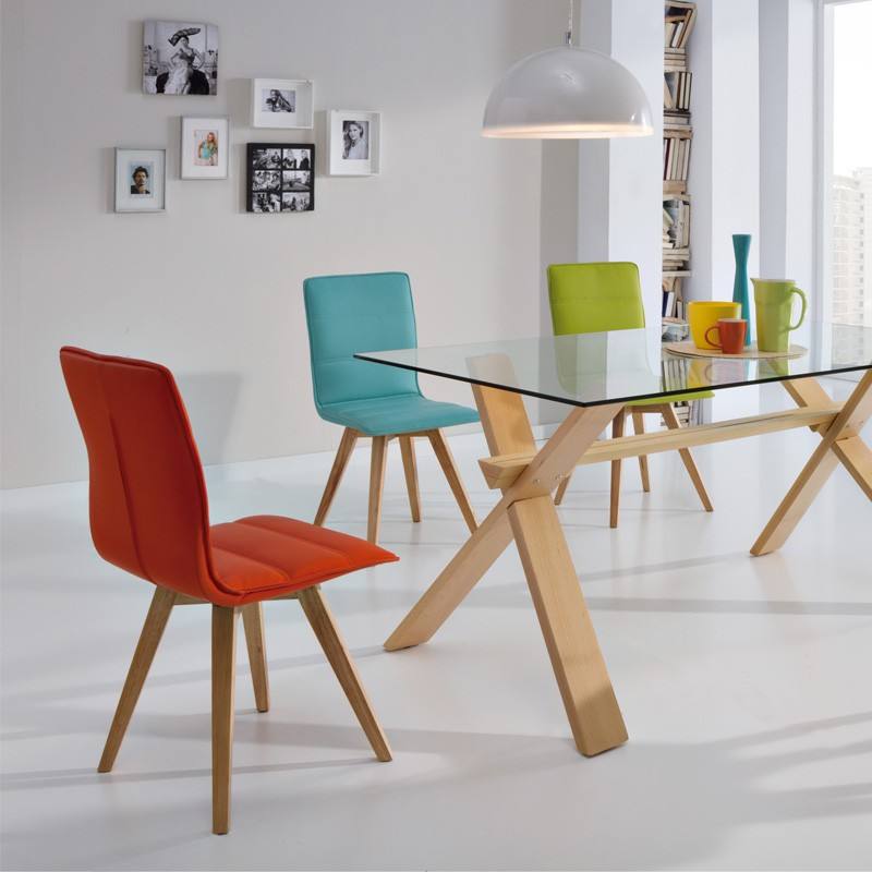 Duo de chaises turquoise kano univers salle manger for Chaises scandinaves couleur
