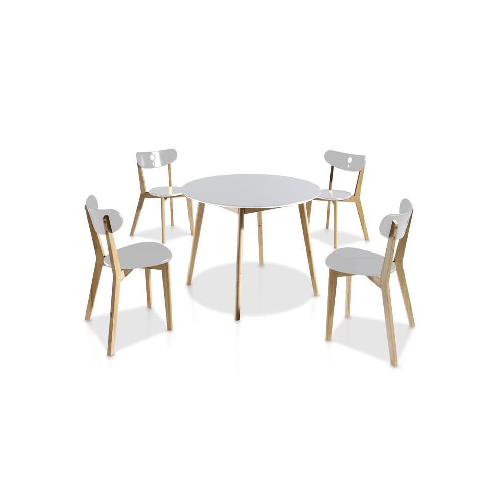 Ensemble Tables & Chaises Blanc - DAIA