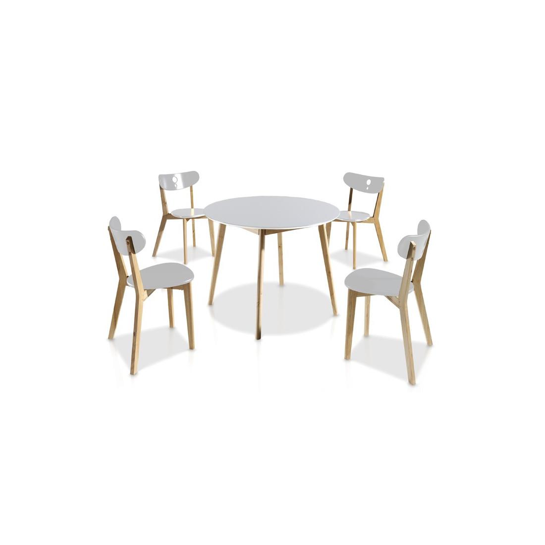 Ensemble tables chaises blanc daia univers salle for Ensemble table chaise blanc