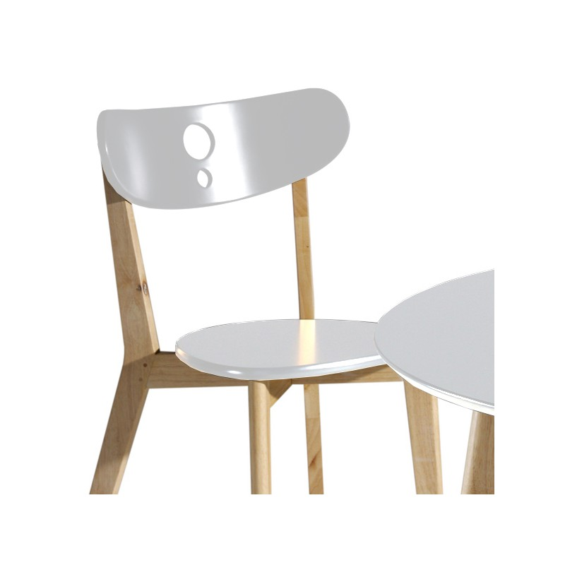 Ensemble table et chaise blanc maison design for Ensemble table chaise salle a manger