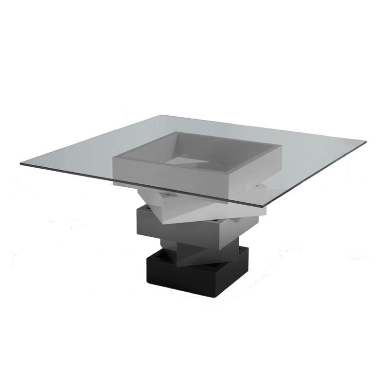 Table de repas carrée Gris - KART - L 140 x l 140 x H 76