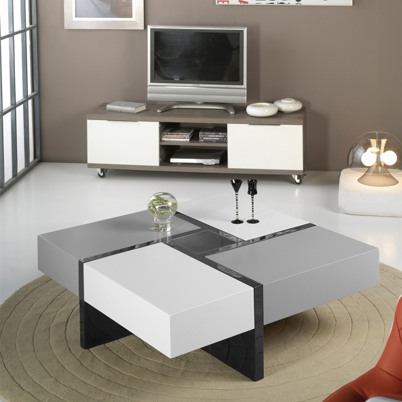 table blanche et grise great table blanche et grise with. Black Bedroom Furniture Sets. Home Design Ideas