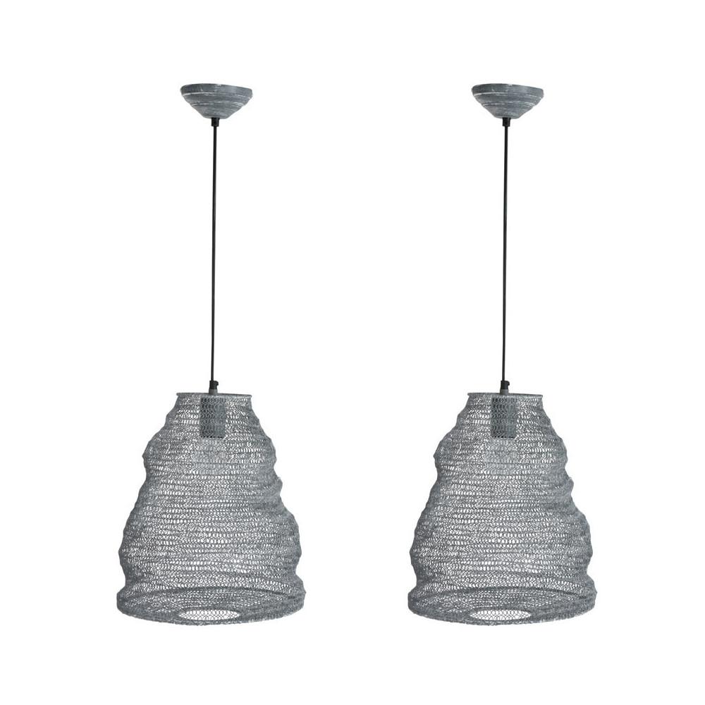 Duo de Suspensions Métal gris N°2 - LANKY