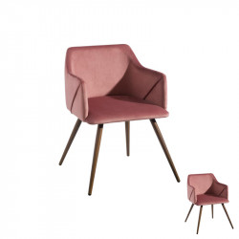 Duo de fauteuils velours Rose - DONA