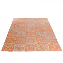 Tapis Coton corail Patchwork - SACCO