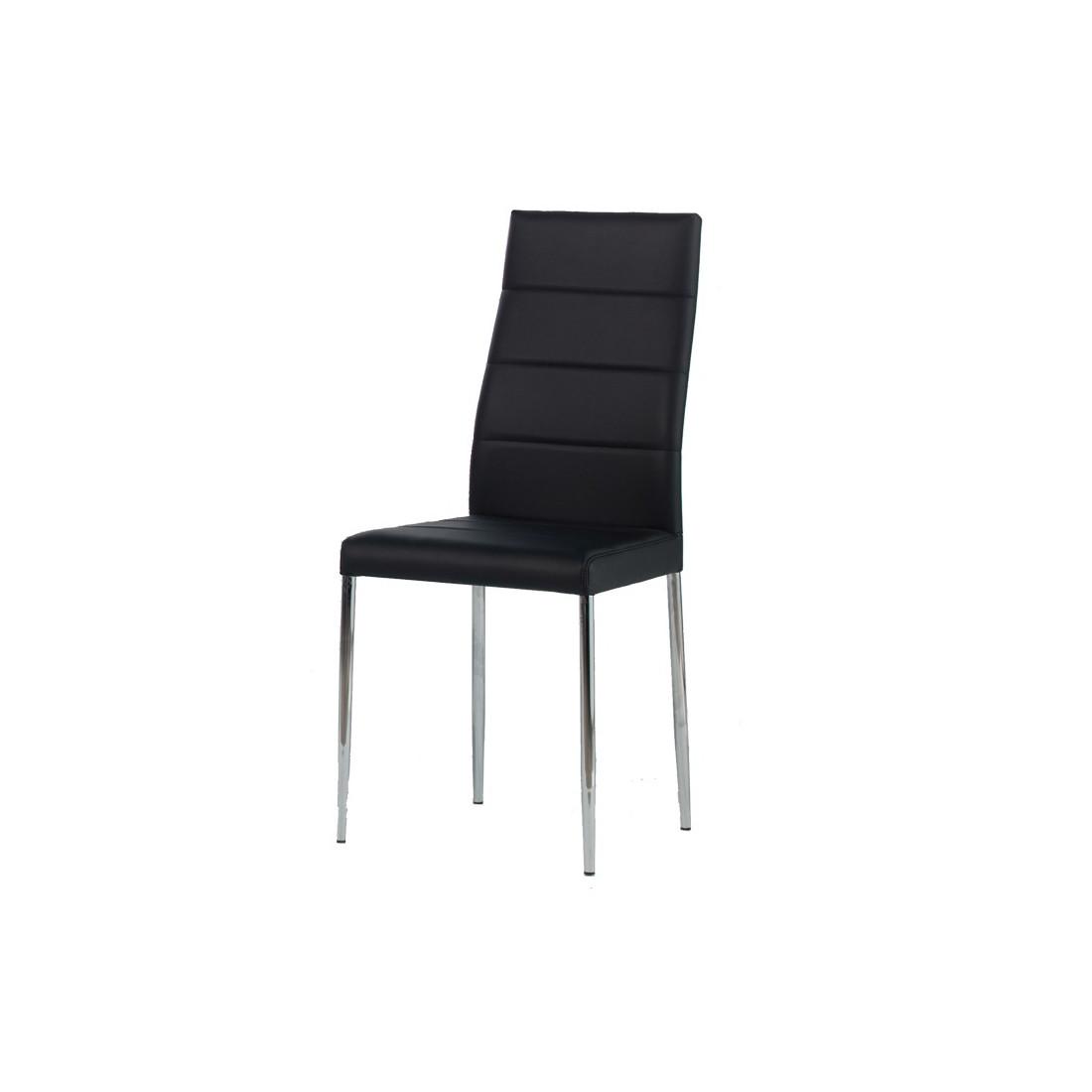 quatuor de chaises noires alta univers assises. Black Bedroom Furniture Sets. Home Design Ideas