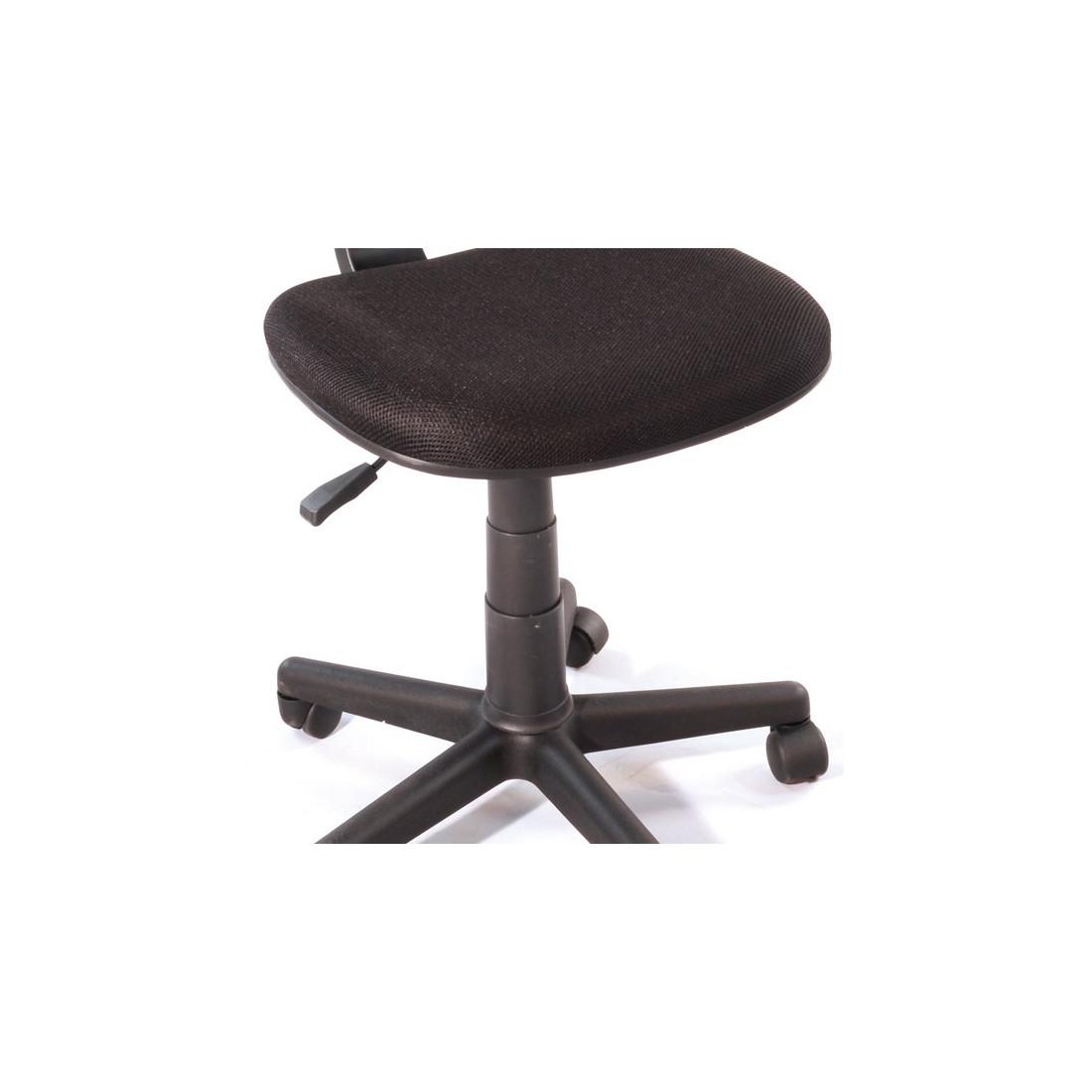chaise de bureau noir hispa univers bureau tousmesmeubles. Black Bedroom Furniture Sets. Home Design Ideas