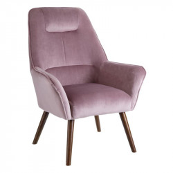 Fauteuil Velours Rose - WAVE n°2