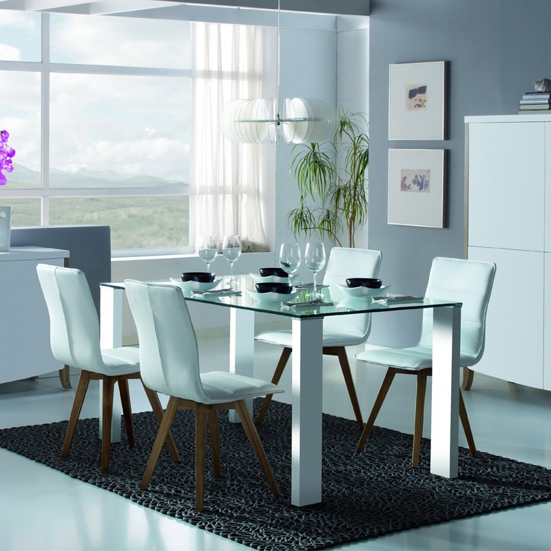 duo de chaises blanches kano univers salle manger. Black Bedroom Furniture Sets. Home Design Ideas