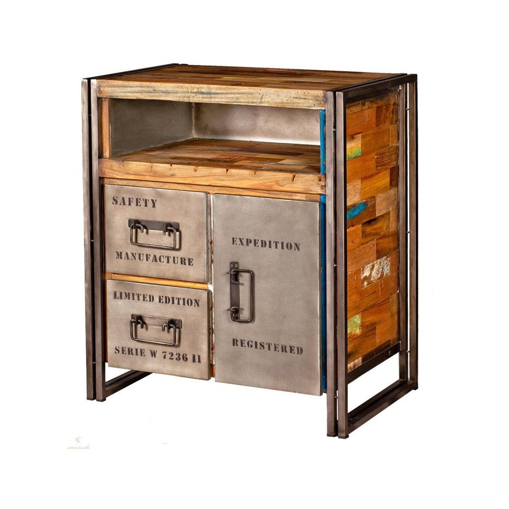 Buffet 1 porte, 2 tiroirs - INDUSTRY