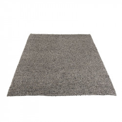 Tapis rectangulaire Laine grise - FIKE