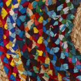 Tapis multicolore Jute/Coton 90*90 - SOTALI