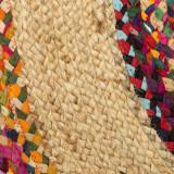 Tapis multicolore Jute/Coton 120*120 - SOTALI