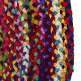Tapis multicolore Jute/Coton 150*150 - SOTALI