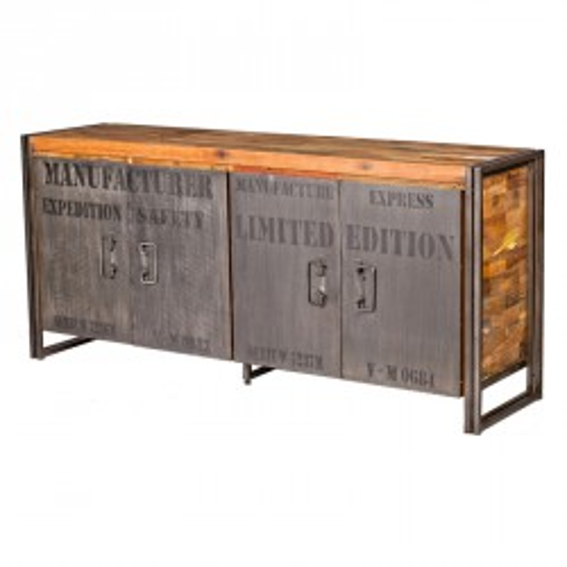 Buffet en bois 4 portes  - INDUSTRY