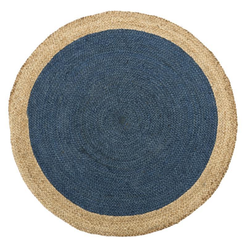 Tapis Fibres bleu 120*120 N°4 - PEALE