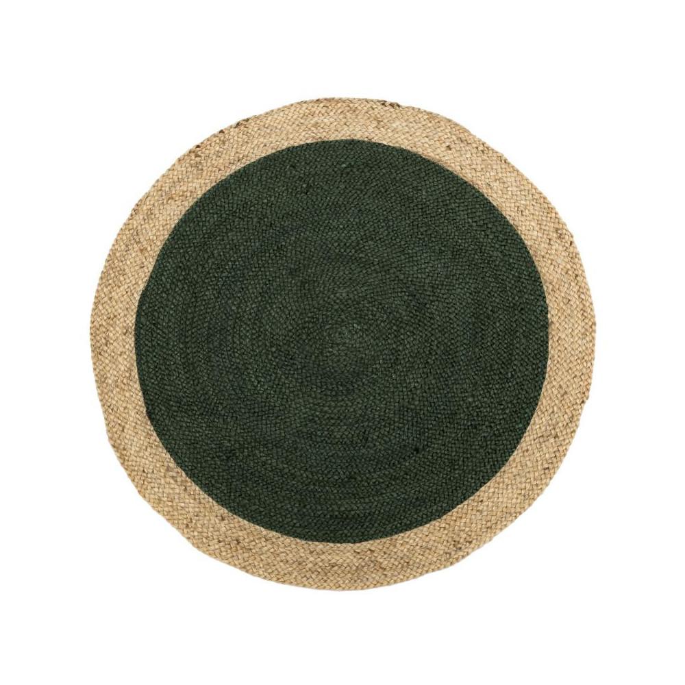 Tapis Fibres vert 120*120 N°4 - PLEANE