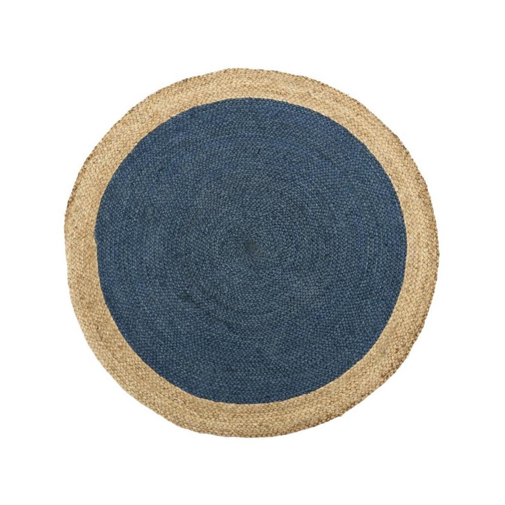 Tapis Fibres bleu 180*180 N°4 - PLEANE