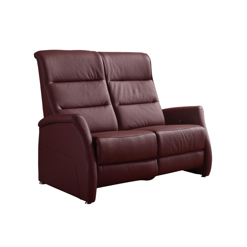 canape relax cuir 2 places canap relax manuel 2 places cuir carmin leopold univers