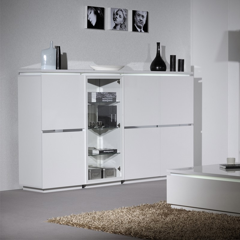armoire de salon laque blanche n 2 carmen univers salon. Black Bedroom Furniture Sets. Home Design Ideas