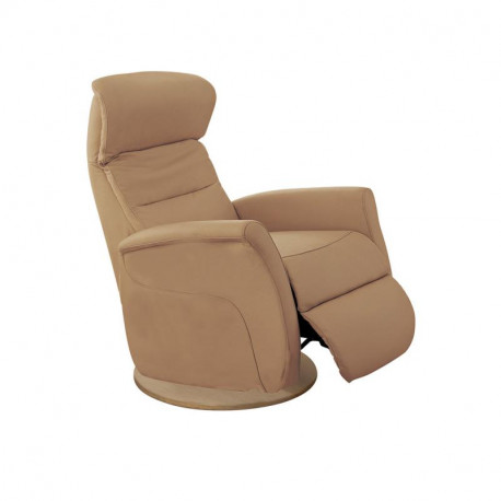 Fauteuil de relaxation Cuir Camel - LEOPOLD n°6