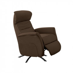 Fauteuil de relaxation Cuir Chocolat - LEOPOLD n°2