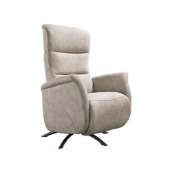Fauteuil de relaxation Tissu Mastic - LEOPOLD n°1
