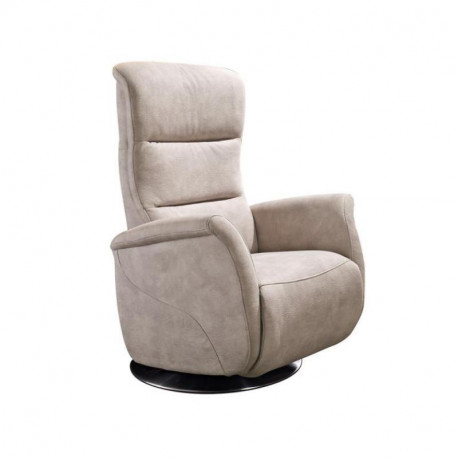 Fauteuil de relaxation Tissu Mastic - LEOPOLD n°3