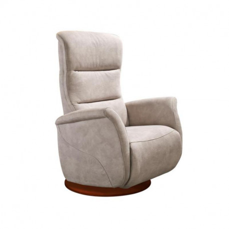 Fauteuil de relaxation Tissu Mastic - LEOPOLD n°4