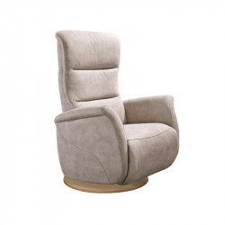 Fauteuil de relaxation Tissu Mastic - LEOPOLD n°5