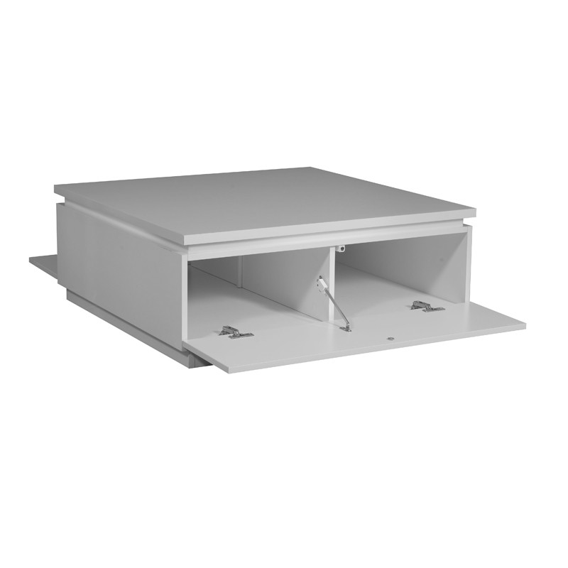 Table basse laque blanche carmen univers salon tousmesmeubles - Table basse blanche laque ...