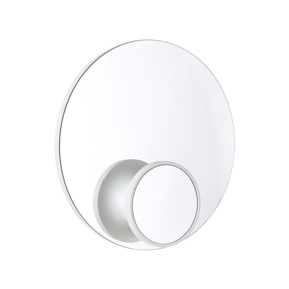 Miroir portemanteau Bois blanc taille S - TONKA
