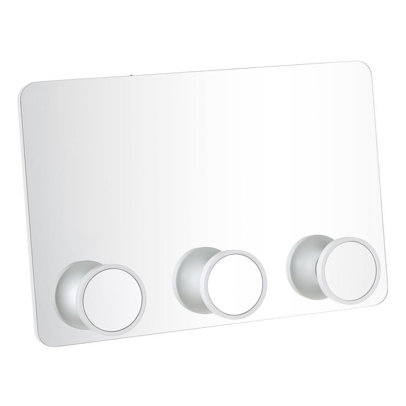 Miroir portemanteau Bois blanc taille M - TONKA