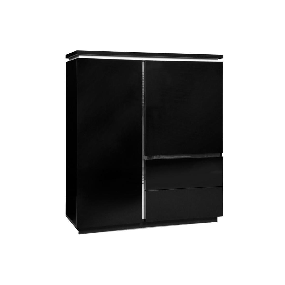 armoire de salon laque noire n 1 carmen univers salle manger. Black Bedroom Furniture Sets. Home Design Ideas