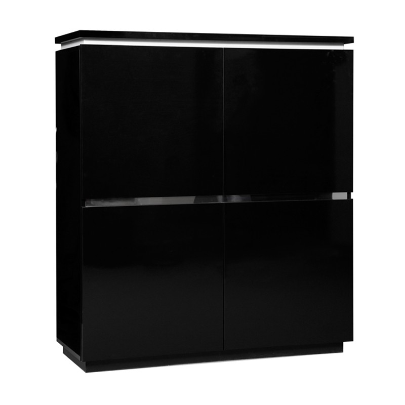 armoire de salon laque noire n 2 carmen univers salon. Black Bedroom Furniture Sets. Home Design Ideas