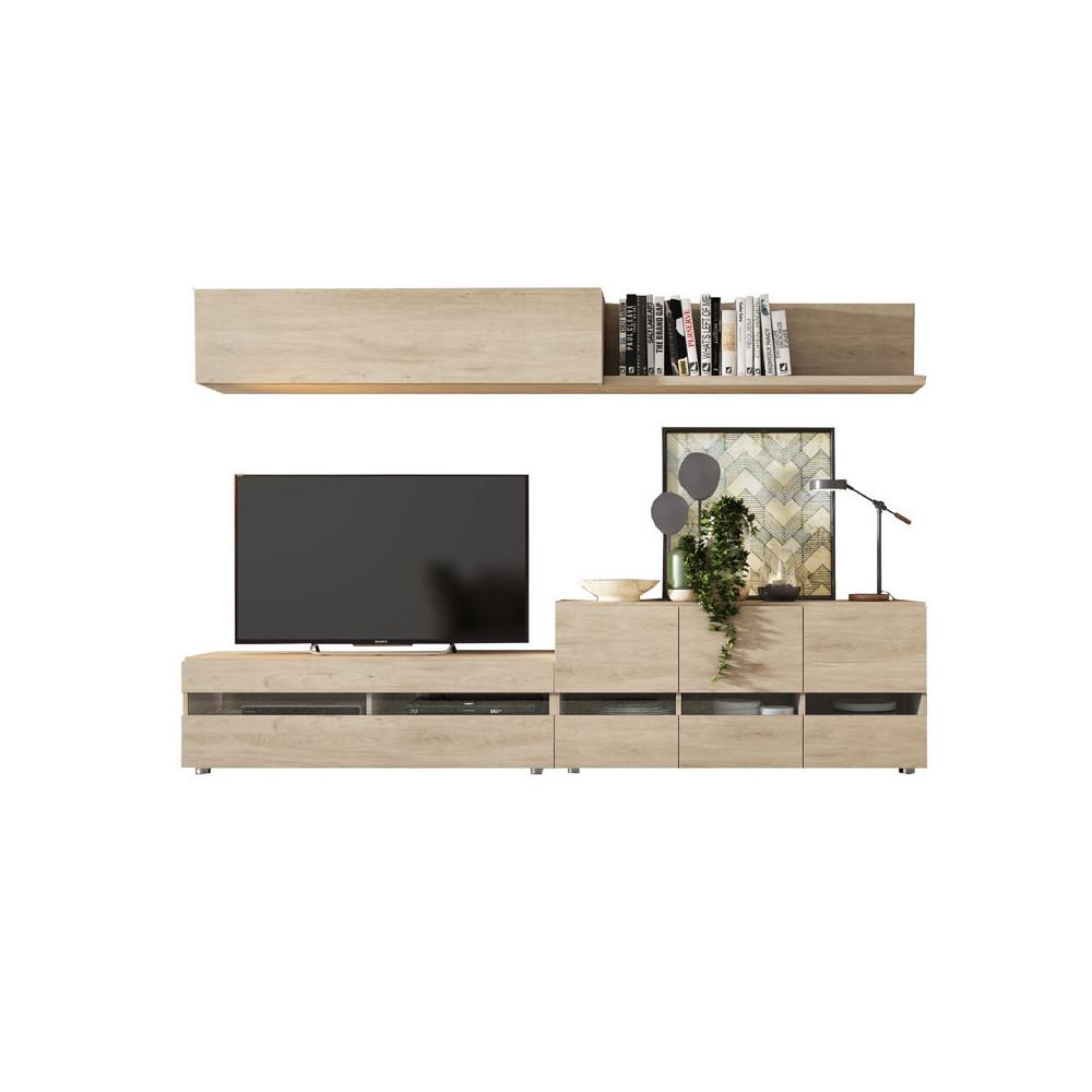 Composition TV Bois clair - CAMELIA