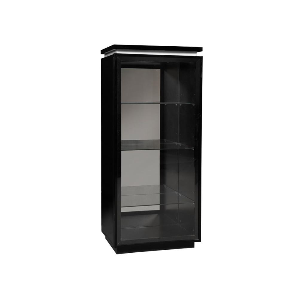 vitrine laque noire 1 porte verre carmen univers salle manger. Black Bedroom Furniture Sets. Home Design Ideas