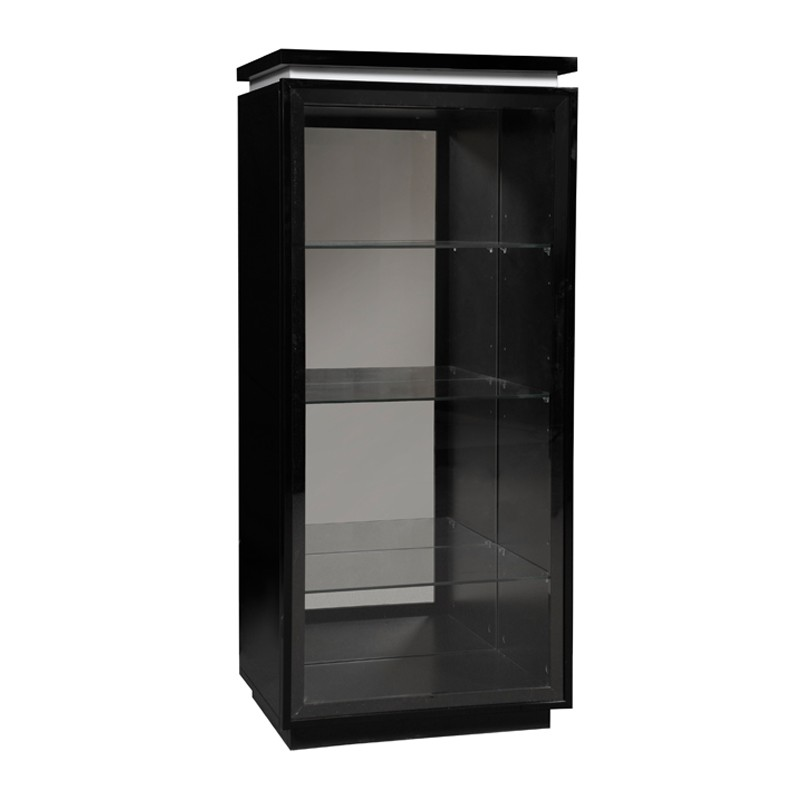 vitrine laque noire 1 porte verre carmen univers salle manger. Black Bedroom Furniture Sets. Home Design Ideas