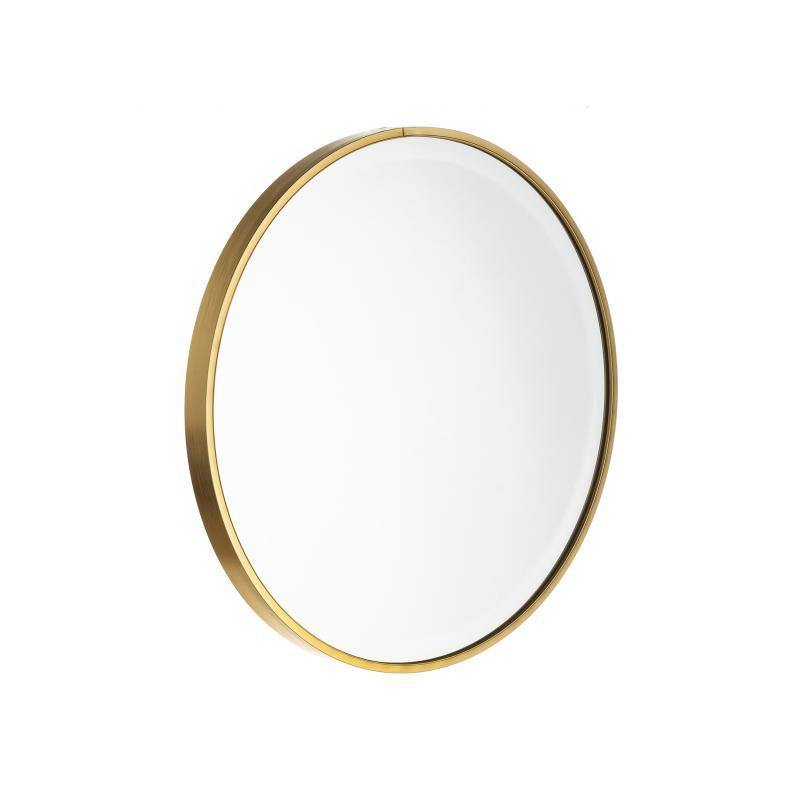 Miroir rond Métal doré taille S - KANSAS