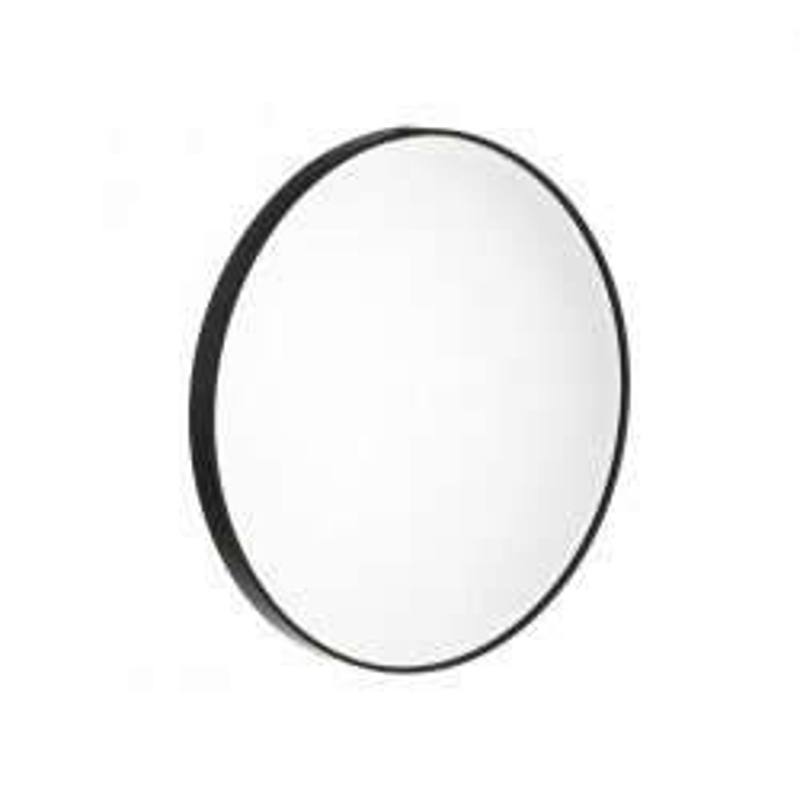Miroir rond Métal noir taille S - KANSAS
