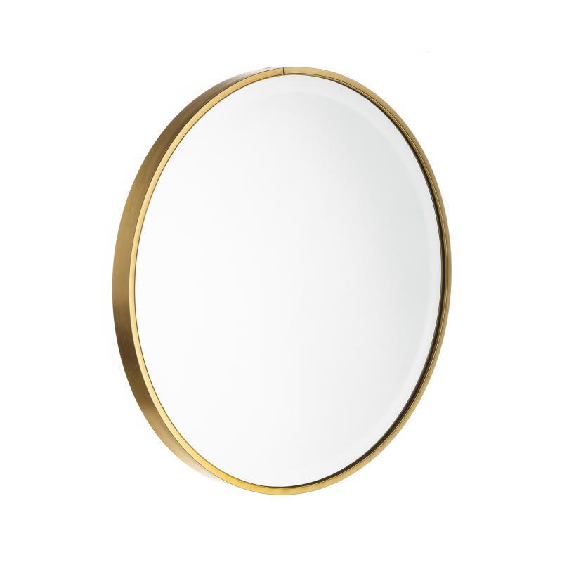 Miroir rond Métal doré taille M - KANSAS