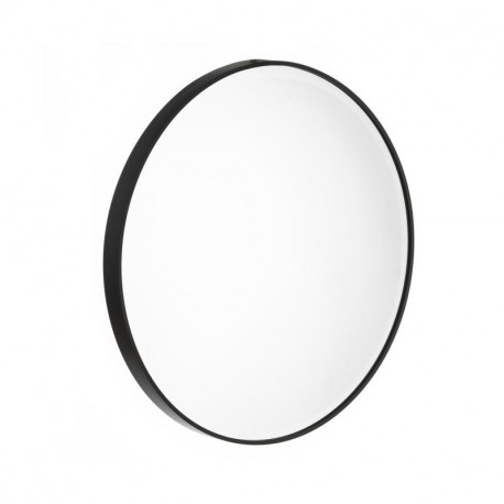 Miroir rond Métal noir taille M - KANSAS