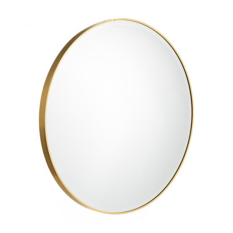 Miroir rond Métal doré taille L - KANSAS
