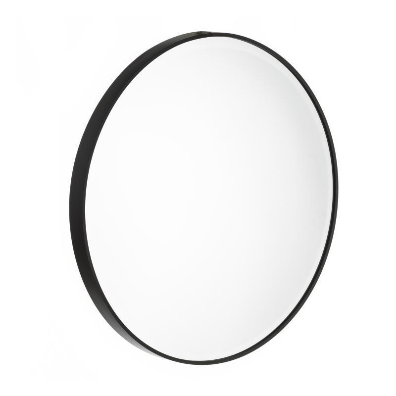 Miroir rond Métal noir taille L - KANSAS